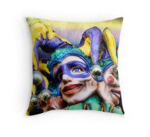 Mardi Gras, Jesters Throw Pillow