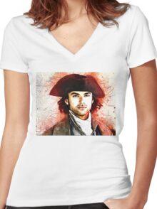 """""""Wheal Leisure"""" ~ Ross Poldark Women's Fitted V-Neck T-Shirt"""