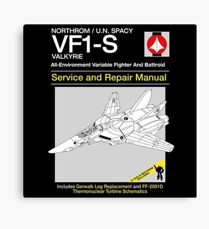 VF-1 Service and Repair Canvas Print