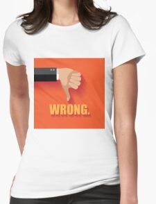 Wrong thumbs down flat design Womens Fitted T-Shirt