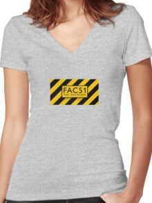 FAC51 Women's Fitted V-Neck T-Shirt