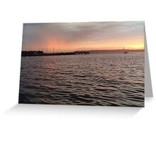 Edmonds Marina and Beach Greeting Card