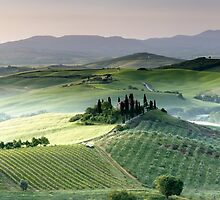 Tuscany dawn Belvedere by Vicki Moritz