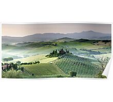 Tuscany dawn Belvedere Poster