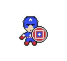 Captain America in Pixel Art by gambarvektor
