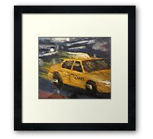 NYC taxi Yellow taxi Framed Print
