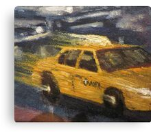 NYC taxi Yellow taxi Canvas Print