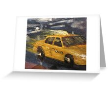 NYC taxi Yellow taxi Greeting Card