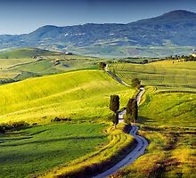 View from Pienza at dawn by Vicki Moritz