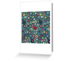 Honolulu hoops blue Greeting Card