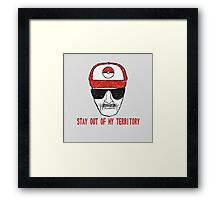 Stay out of my territory Framed Print