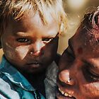 Mother and child, Lonavla railway station by indiafrank