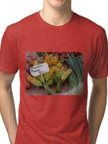 Zucchini flowers $2 Tasmania 2009 Hobart street market Tri-blend T-Shirt