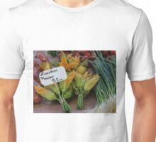 Zucchini flowers $2 Tasmania 2009 Hobart street market Unisex T-Shirt