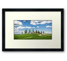 Tuscany Villa, Val DOrcia Framed Print