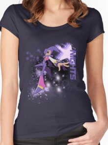 Nights Star Background Women's Fitted Scoop T-Shirt