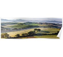 Val DOrcia, morning panoramic Poster