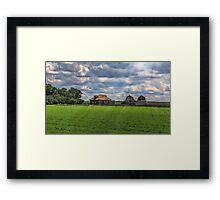 Homestead on the Prairies Framed Print