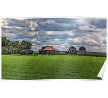 Homestead on the Prairies Poster