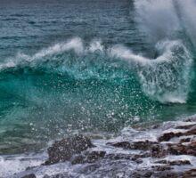 Panama. Bocas del Toro. Red Frog Beach. Crashing Waves. Sticker