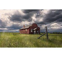 Modern Family on the Prairies Photographic Print