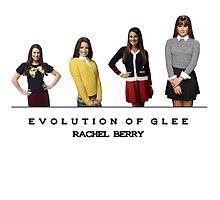 Evolution of Glee || Rachel Berry by linked-pinkies
