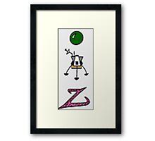 Peelander Z Framed Print