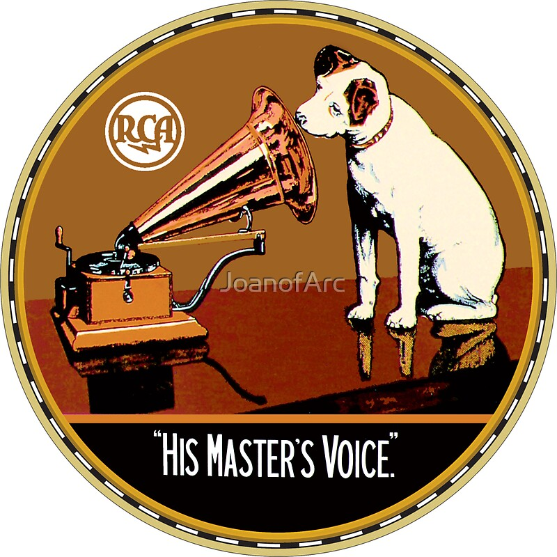 his masters voice stickers redbubble. Black Bedroom Furniture Sets. Home Design Ideas