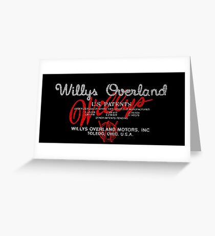 Willys Overland Corporation USA Greeting Card