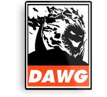 Dormammu Dawg Obey Design Metal Print
