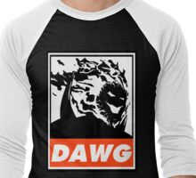 Dormammu Dawg Obey Design Men's Baseball ¾ T-Shirt