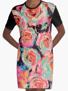Roses Graphic T-Shirt Dress