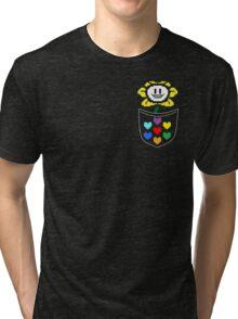 Pocket Flowey (color) Tri-blend T-Shirt