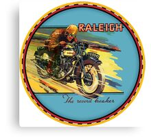 Raleigh Vintage Motorcycles England Canvas Print