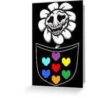 Pocket Flowey Greeting Card