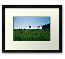 Field and Farmland Framed Print