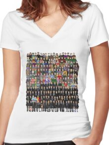 Harry Potter Characters Women's Fitted V-Neck T-Shirt
