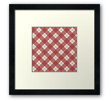 Red Checkered Pattern Framed Print