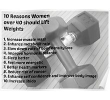 10 Reason Why Women Should Lift Weights Poster