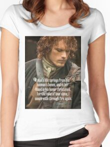 Outlander/Jamie Fraser/Quote from Diana Gabaldon Women's Fitted Scoop T-Shirt
