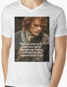 Outlander/Jamie Fraser/Quote from Diana Gabaldon Mens V-Neck T-Shirt