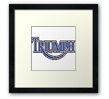 Triumph Vintage Framed Print
