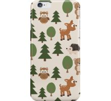 Woods Animals Pattern iPhone Case/Skin