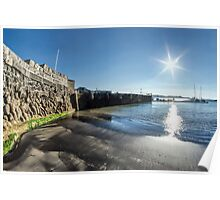 Behind The Cobb Wall ~ Lyme Regis Poster