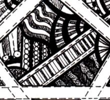 Patterned Heartagram Sticker