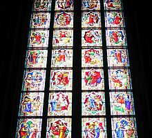 Stained-Glass Church Window in Cologne Cathedral by stine1