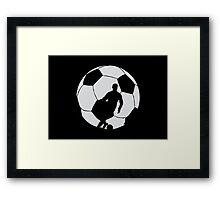 Soccer Silhouette  Framed Print