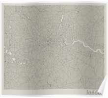 Minimal Maps - London - Light Poster