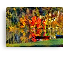 Boat in Lake Canvas Print