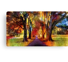 Tree Alley Canvas Print